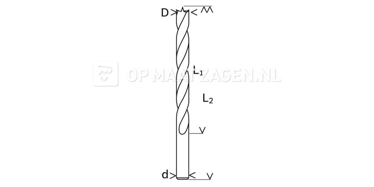 Houtspiraalboor 5x45mm
