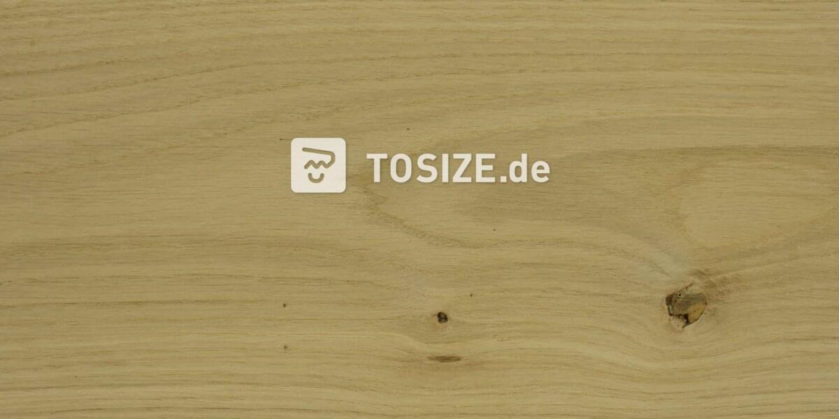 Massivplatte drei Schichten Eiche rustikal