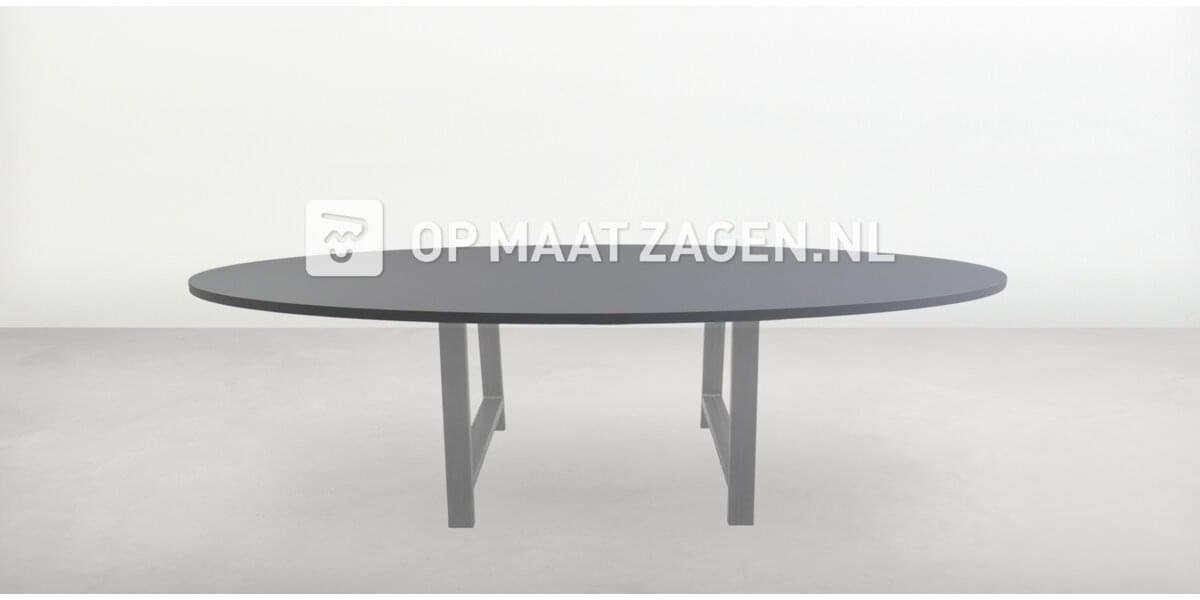 Tafelblad op maat - Ovaal FENIX NTM Grigio Antrim 250,0 x 110,0
