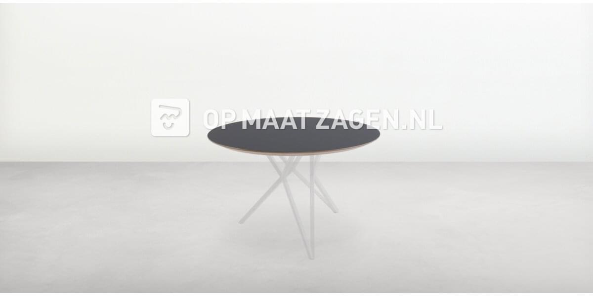 Tafelblad op maat - Cirkel FENIX NTM Nero Ingo ø90,0